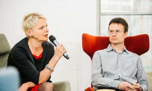 Silke Horáková Nikola Rafaj discussion with Randy Williams Opero Prague