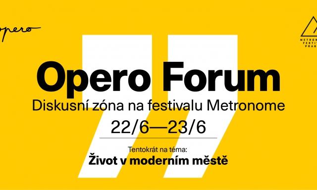Opero, event, Metronome, festival, diskuze, život ve městě,