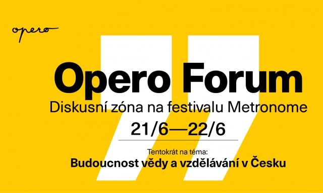 Opero Forum Metronome Festival diskuzní zona vzdelavani