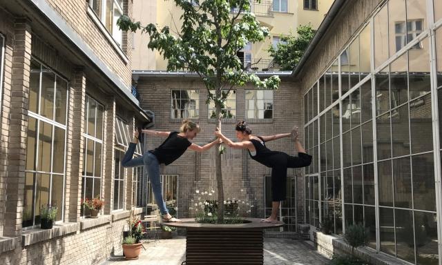 Yoga, Jóga, Opero, Praha, coworking, lekce, léto,