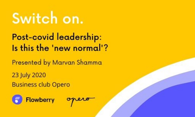 Switch on. Let's talk about post-covid leadership. 23 July at Opero.