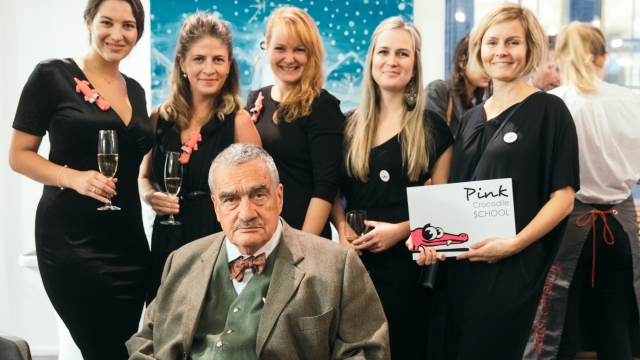 Opero Prague Event coworking pink Crocodille Karel Schwarzenberg